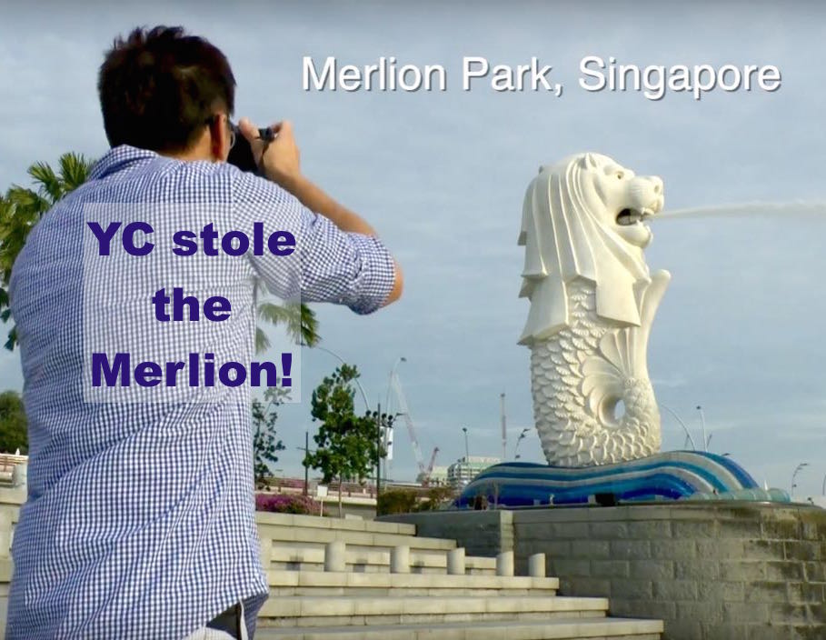 YC stole the Merlion
