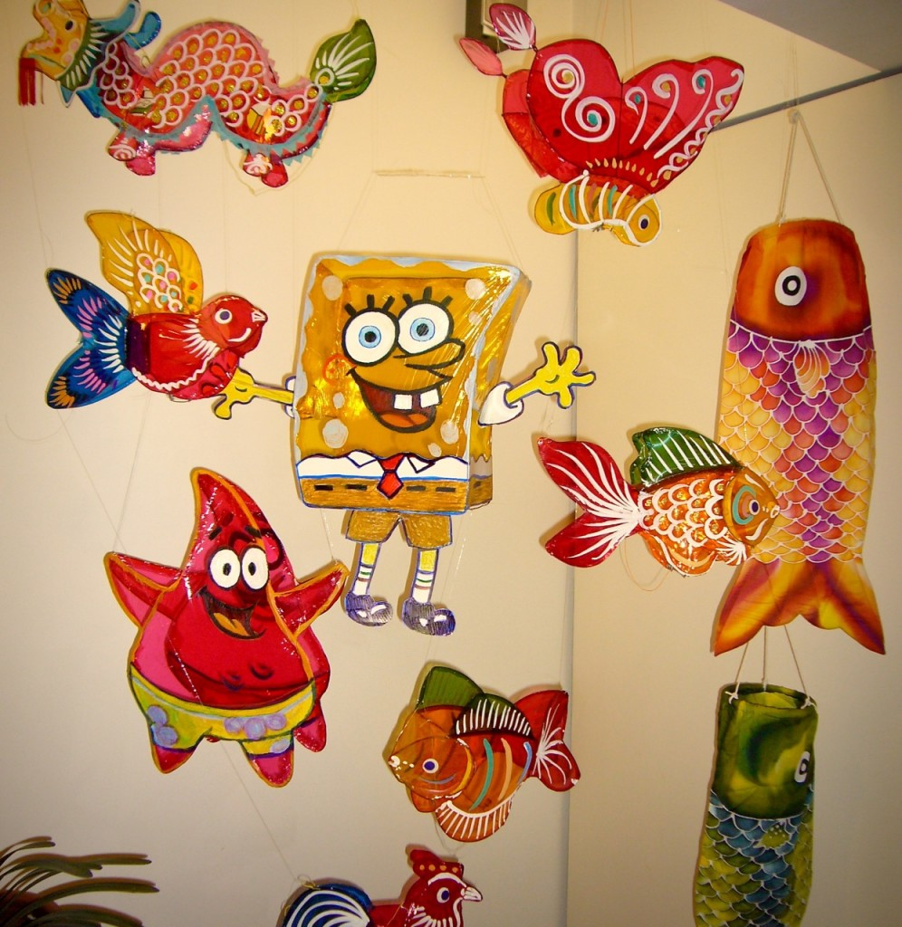 Home-made Spongebob Squarepants and Alfred the Starfish blended so well with other traditional lanterns bought from the market. We loved our home festive decoration.