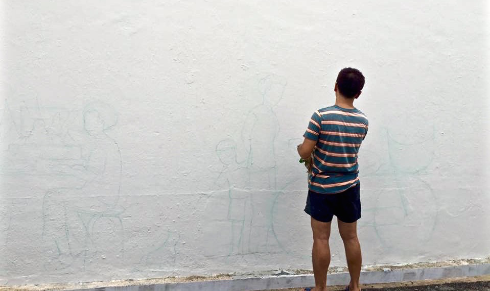 The clean white walls of historic Tiong Bahru were ideal for heritage murals (Photo by Robin Gn)