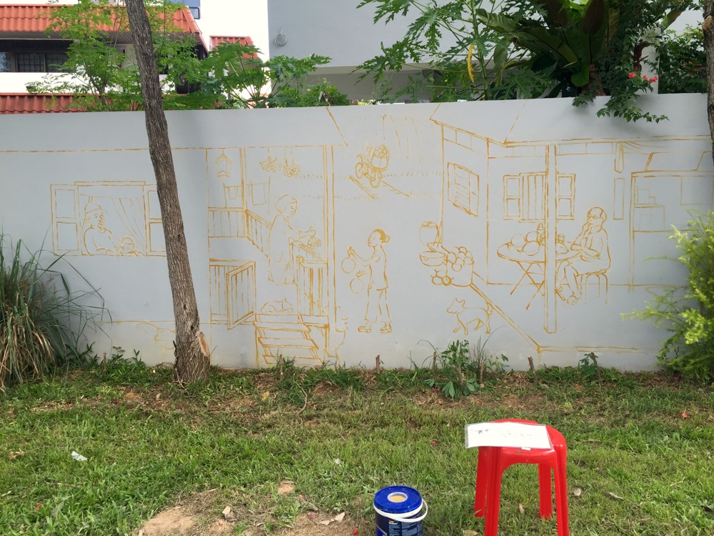 """Kampung"" at Tanah Merah (Nov 2015) was the first commissioned art work of my life."