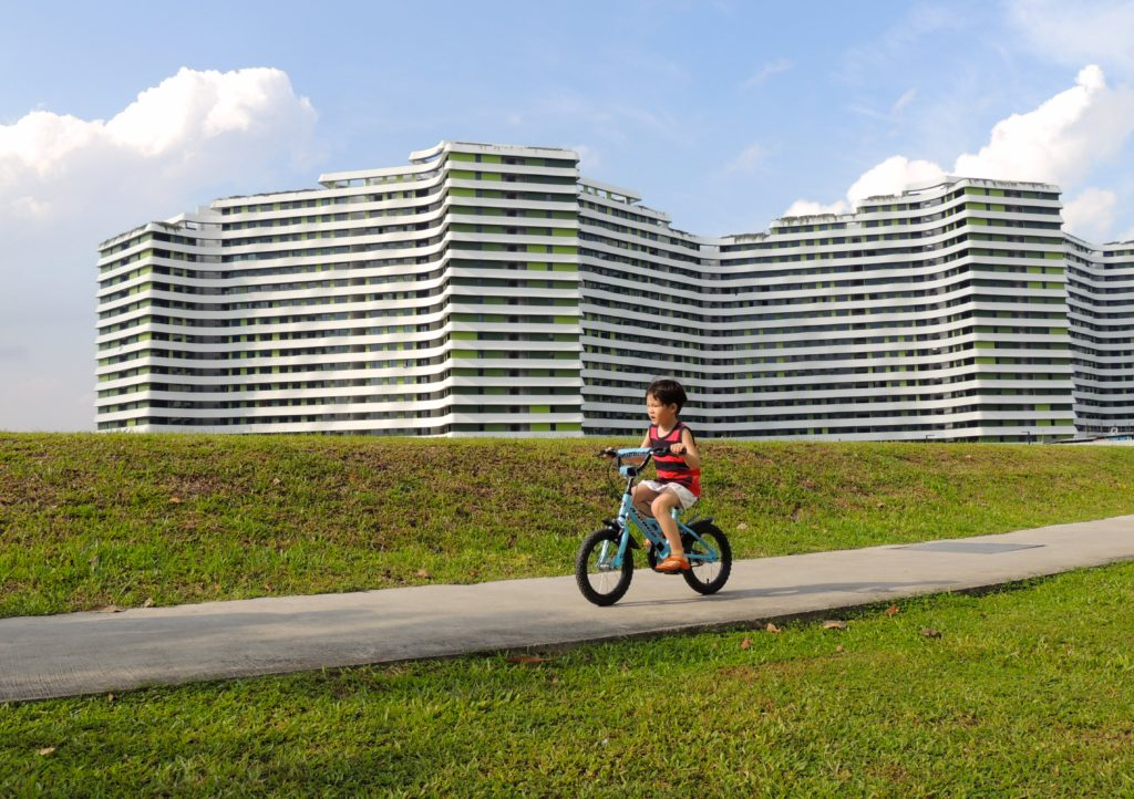 Government housing board flats Punggol Waterway