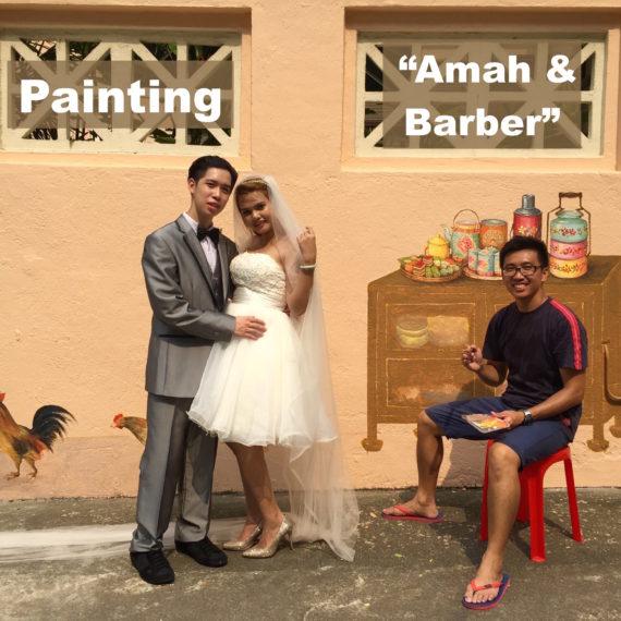 """Painting """"Amah"""" & """"Barber"""" Murals"""